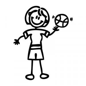Mamma giocatrice di basket
