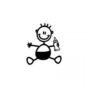 Neonato con biberon