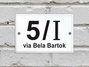 Numero civico in plexiglas standard