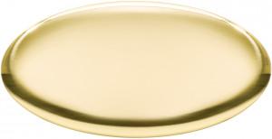 OB - Targa da porta ovale ottone lucido bombato