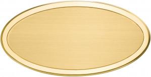 OLS - Targa da porta ovale ottone satinato bordo lucido