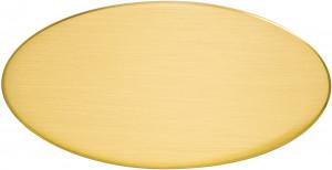 OVS - Targa da porta ovale ottone satinato
