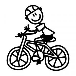 Papà in bicicletta
