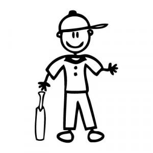 Papà giocatore di cricket