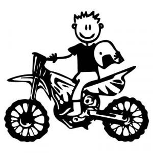 Papà con la moto da cross
