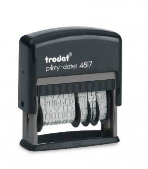 Timbro polinome multiparola con datario Trodat 4817 - 11 diciture (3,8 mm)
