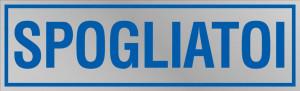 """Etichetta adesiva """"Spogliatoi"""""""