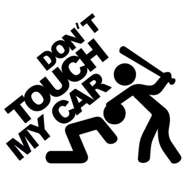 "Adesivo ""Don't touch my car"""