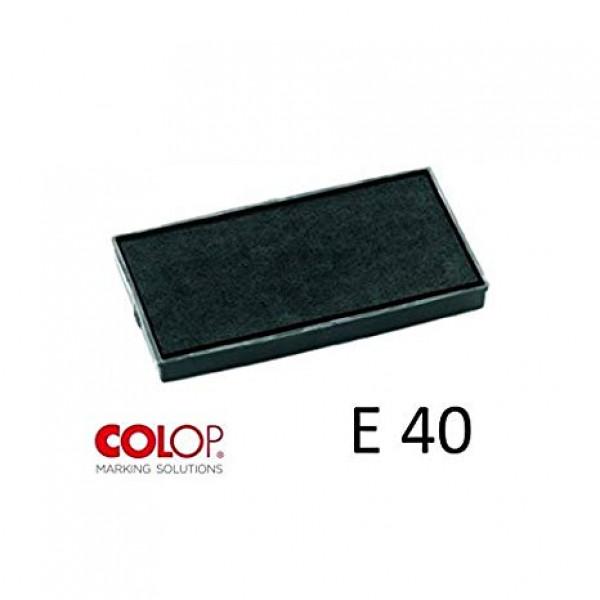 E40 - Cuscinetto tampone per timbro automatico Colop Printer 40 pre inchiostrato