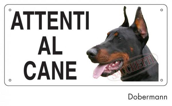 Attenti al cane Dobermann