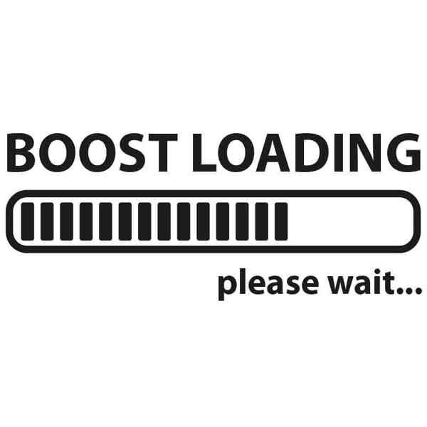 "Adesivo ""Boost loading"""