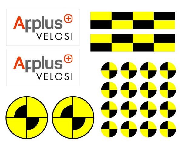 "Kit adesivi ""Crash Test Euro NCAP"" - Foglio 2"