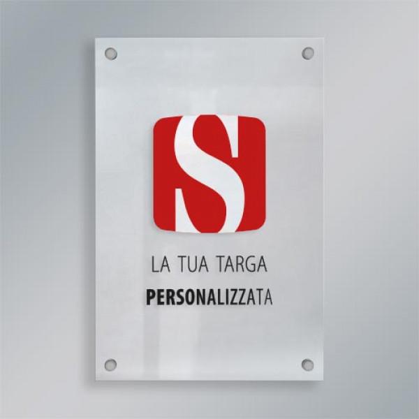Targa plexiglass verticale