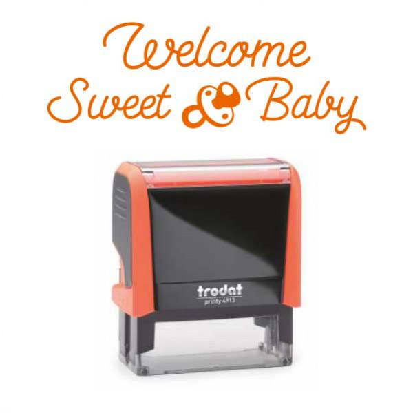"Timbro ""Welcome Sweet Baby"""