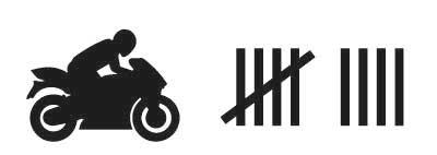 Adesivo motociclista