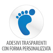 Adesivi trasparenti con forma personalizzata