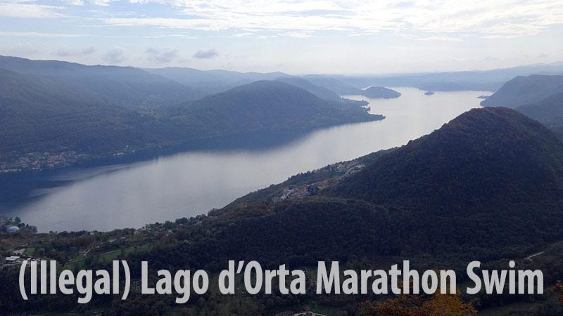 28 km a nuoto per circumnavigare il Lago d'Orta