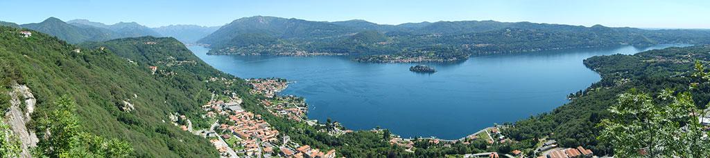 Panoramica dell'isola di San Giulio