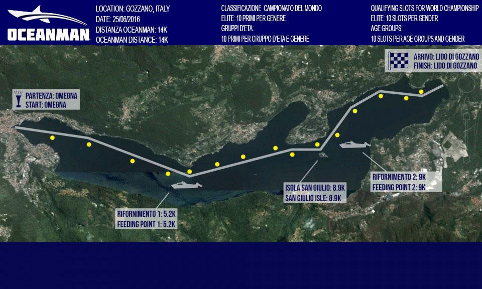 Mappa Lago d'Orta